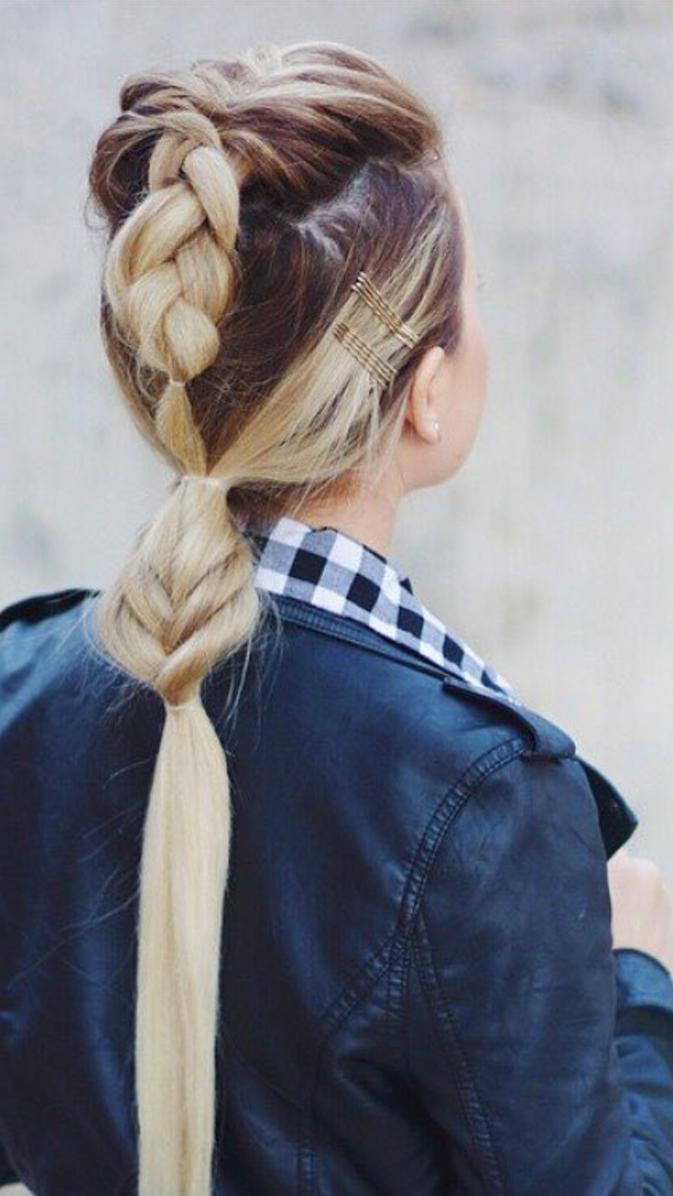 Saturday Hair Inspo: This Triple Threat Style With A French, Dutch Pertaining To Widely Used Straight Triple Threat Ponytail Hairstyles (View 16 of 20)