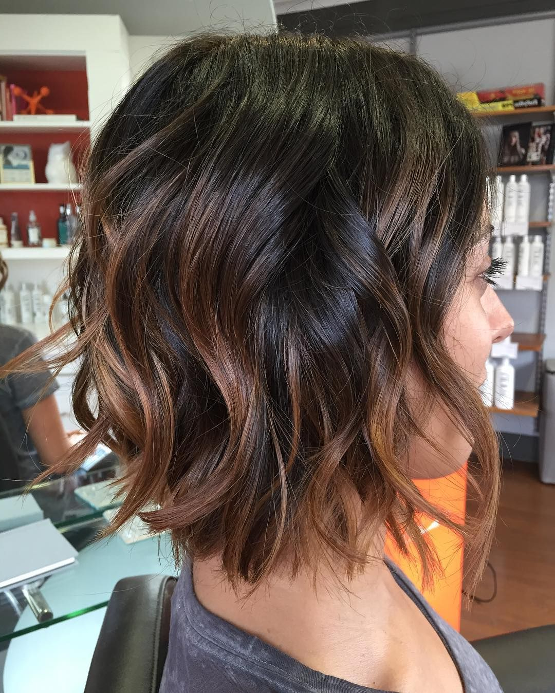 See This Instagram Photo@rinsesalon • 52 Likes | Hairstyles Inside Sexy Tousled Wavy Bob For Brunettes (View 17 of 20)