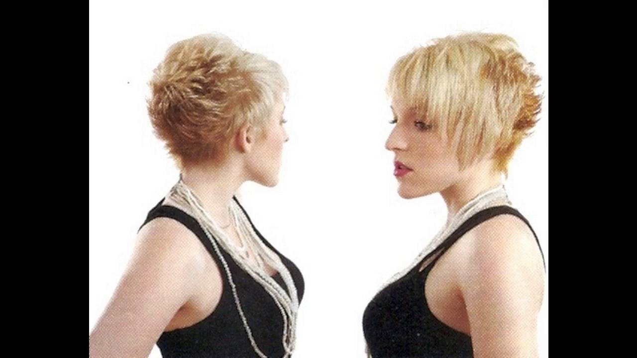 Shaggy Pixie Cut Makes Women Look Cute For Thin Hair Women – Youtube Regarding Funky Pixie Undercut Hairstyles (View 18 of 20)