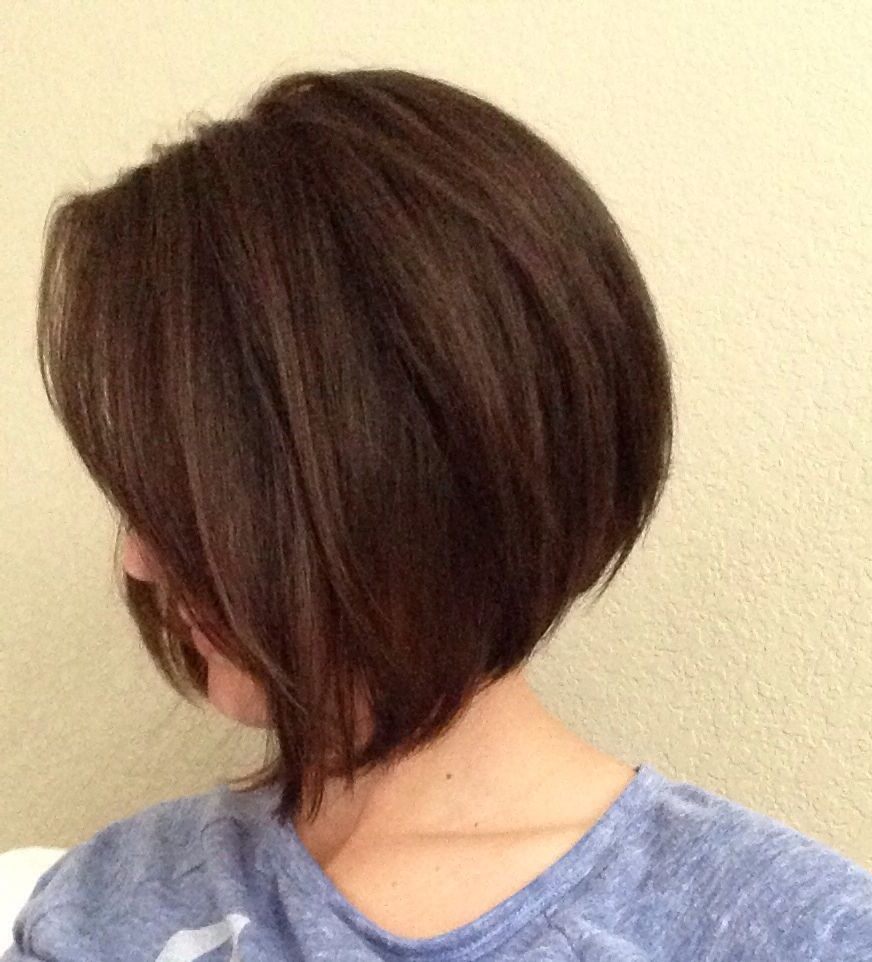 Short A Line Bob With Side Swept Bangs | Hairstyles In 2018 Regarding A Line Amber Bob Haircuts (View 13 of 20)