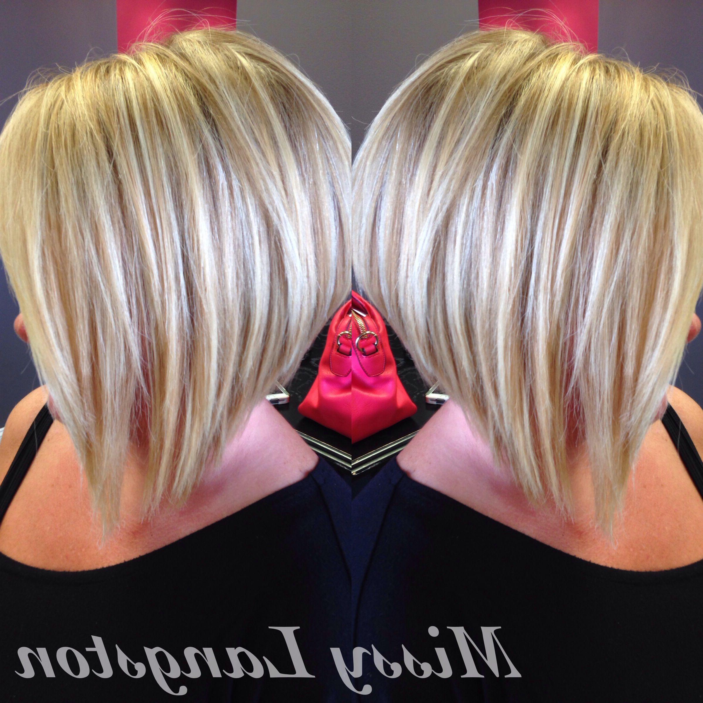 Short Blonde Inverted Bob Using Olaplexmissy Langston. Blondie's Pertaining To Short Blonde Inverted Bob Haircuts (Gallery 1 of 20)