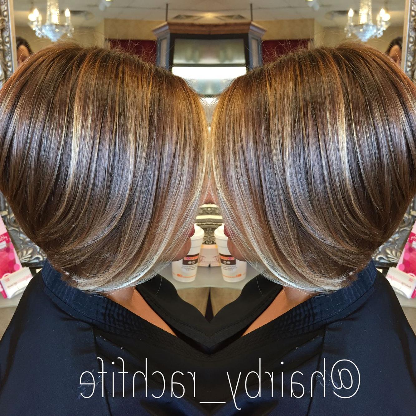 Short Bob Haircut With Subtle Balayage Highlights (View 17 of 20)