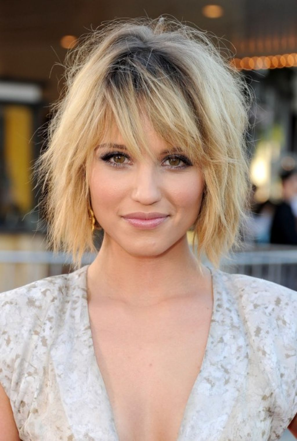 Short Bob With Long Layers Layered Bob With Bangs Women Hairstyle Trendy Within Textured Bob Haircuts With Bangs (View 14 of 20)