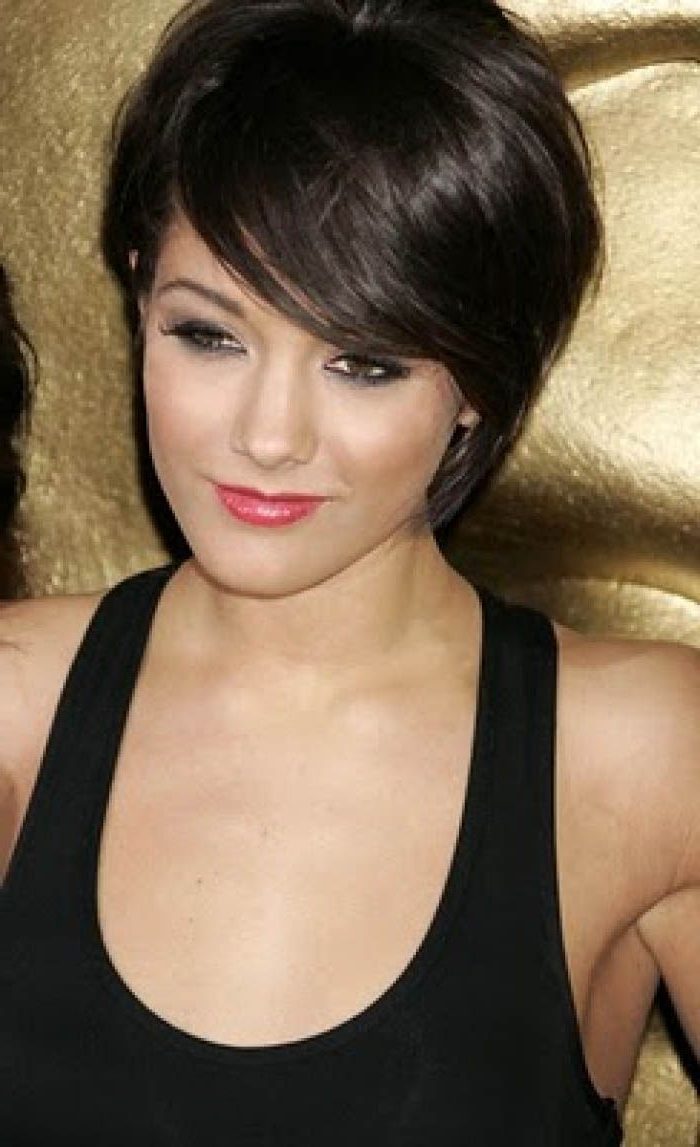Short Dark Hairstyles For Women   Hair   Pinterest   Short Hair In Shorter Black Messy Hairstyles (View 12 of 20)