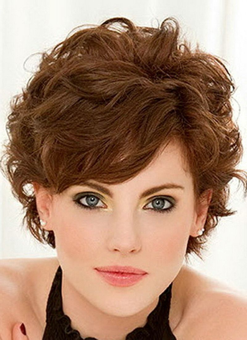 Short Fine Curly Hair Haircuts Short Hairstyles For Fine Wavy Hair With Regard To Curly Golden Brown Pixie Hairstyles (View 6 of 20)