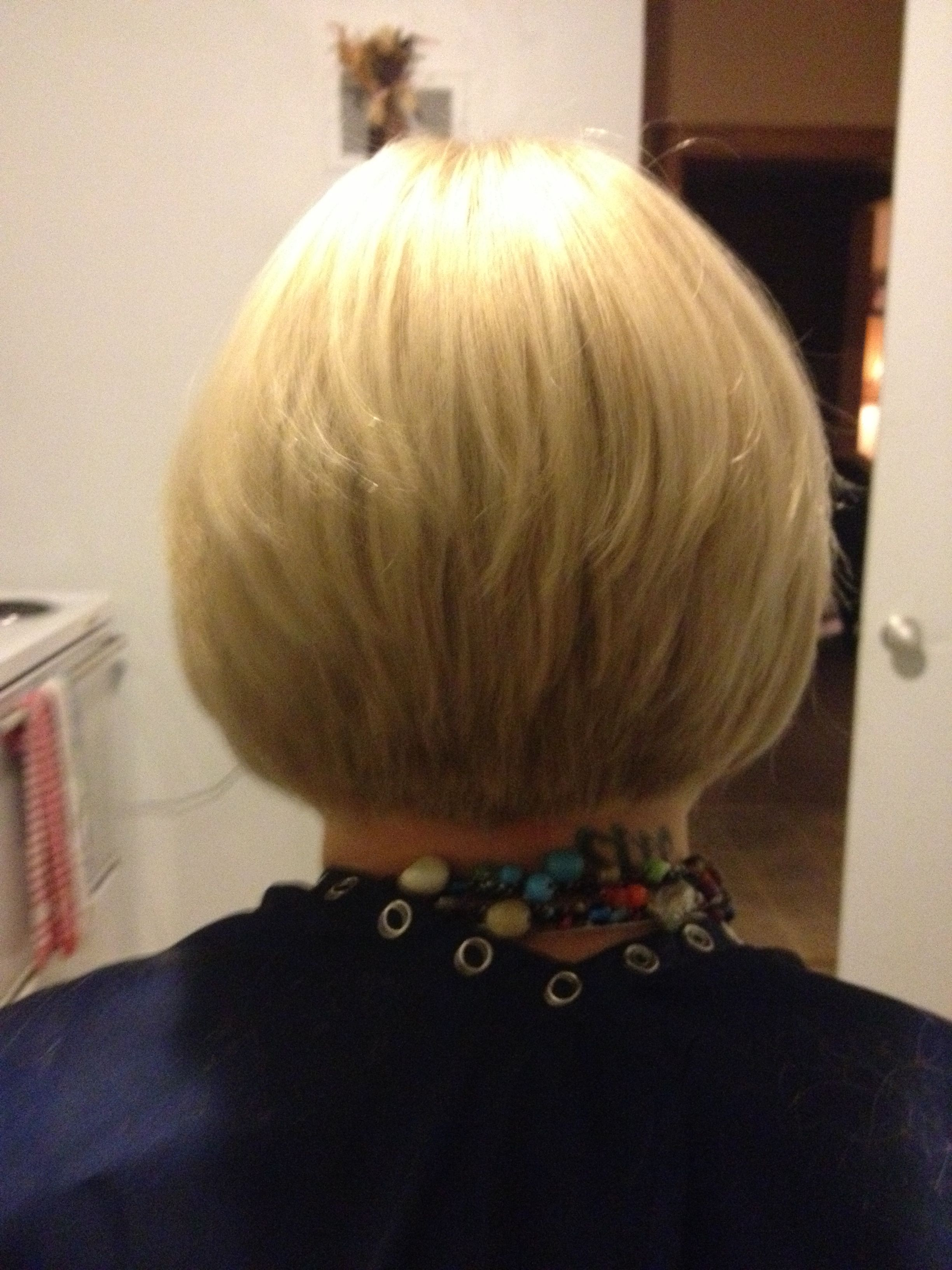 Short Hair Tapered Bob (Back View) | Odds And Ends | Pinterest Regarding Short Bob Hairstyles With Tapered Back (Gallery 4 of 20)