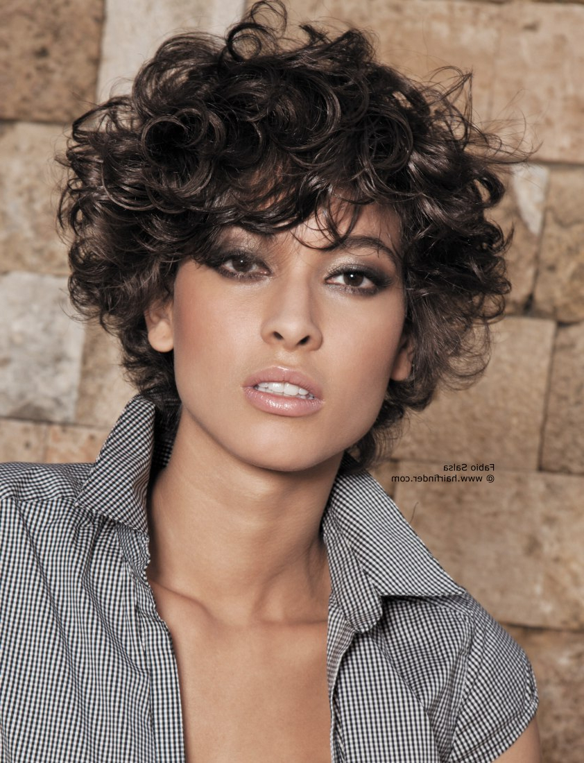 Short Hairstyle Ideas For Curly Hair 2019   Haircuts, Hairstyles Regarding Short Bob For Curly Hairstyles (Gallery 13 of 20)