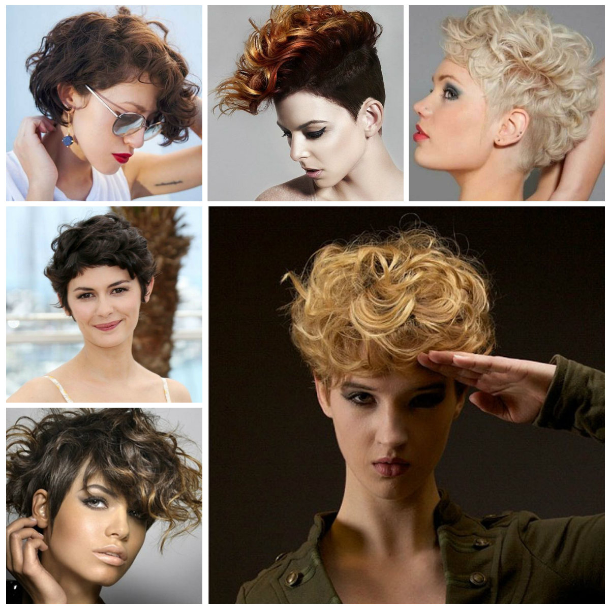 Short Hairstyles For Curly Hair 2017 – Hairstyles Ideas In Curly Golden Brown Pixie Hairstyles (View 14 of 20)
