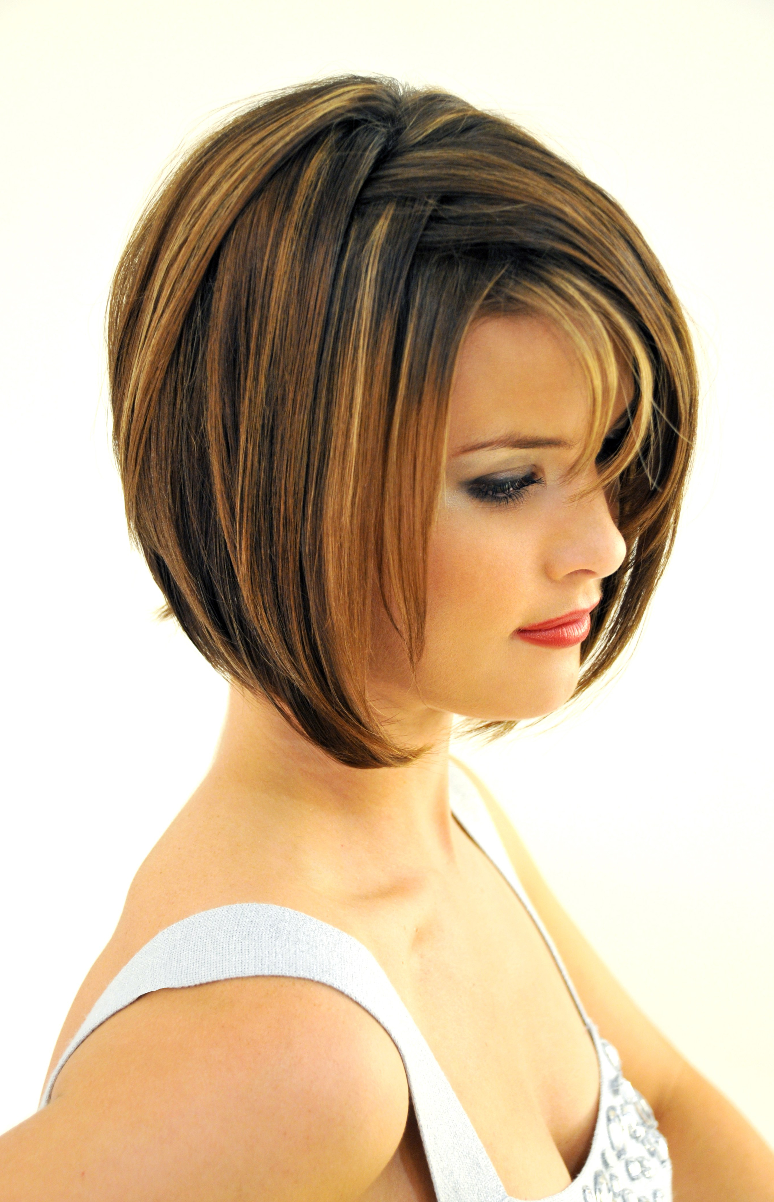 Short Layered Bob Haircut With Bangs – Hairstyle For Women & Man In Textured Bob Haircuts With Bangs (Gallery 10 of 20)