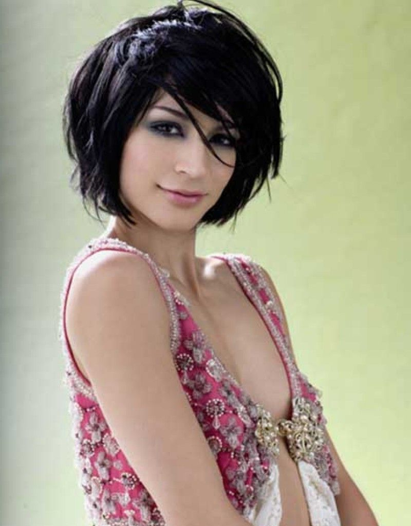 Short Layered Bob Hairstyles Front And Back View – Hollywood For Shorter Black Messy Hairstyles (View 2 of 20)