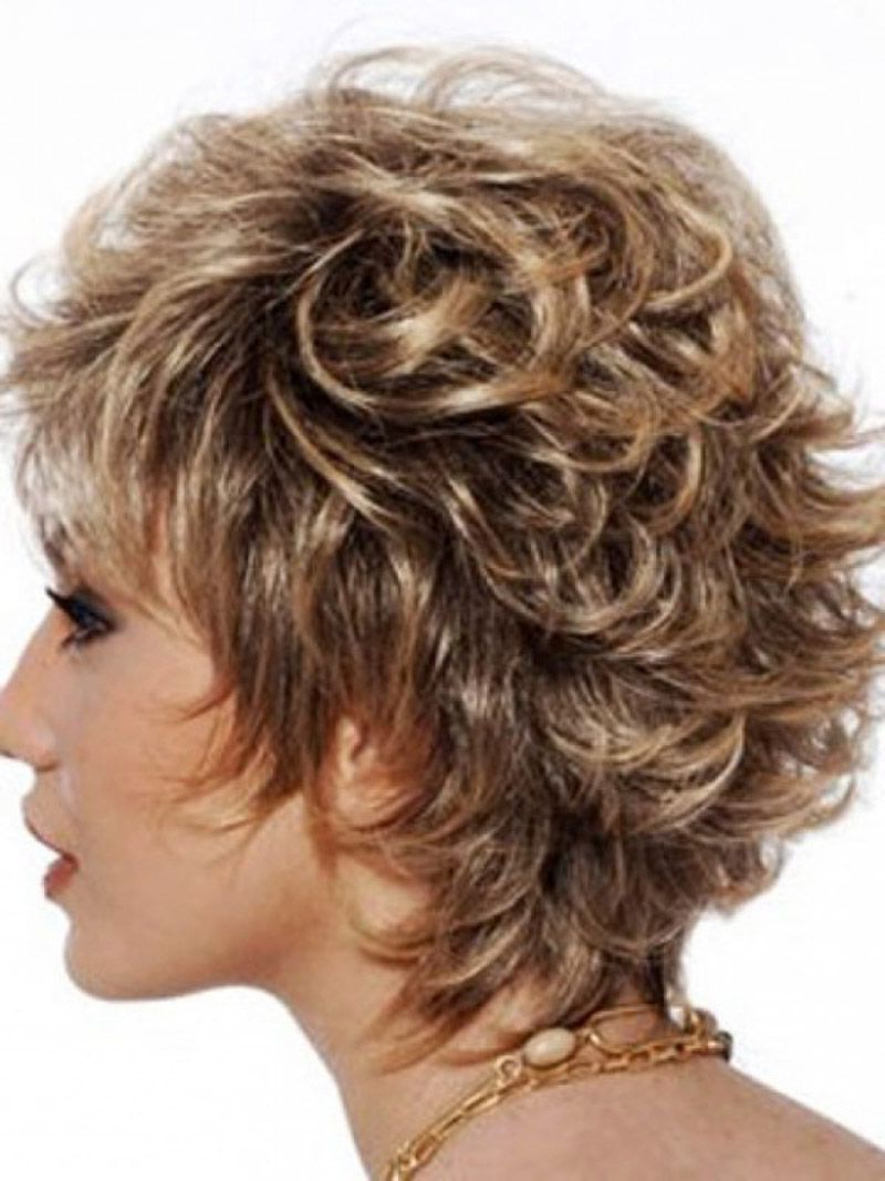 Short Layered Haircuts For Women Front And Back View Back View Shor Within Layered Haircuts For Short Curly Hair (View 4 of 20)