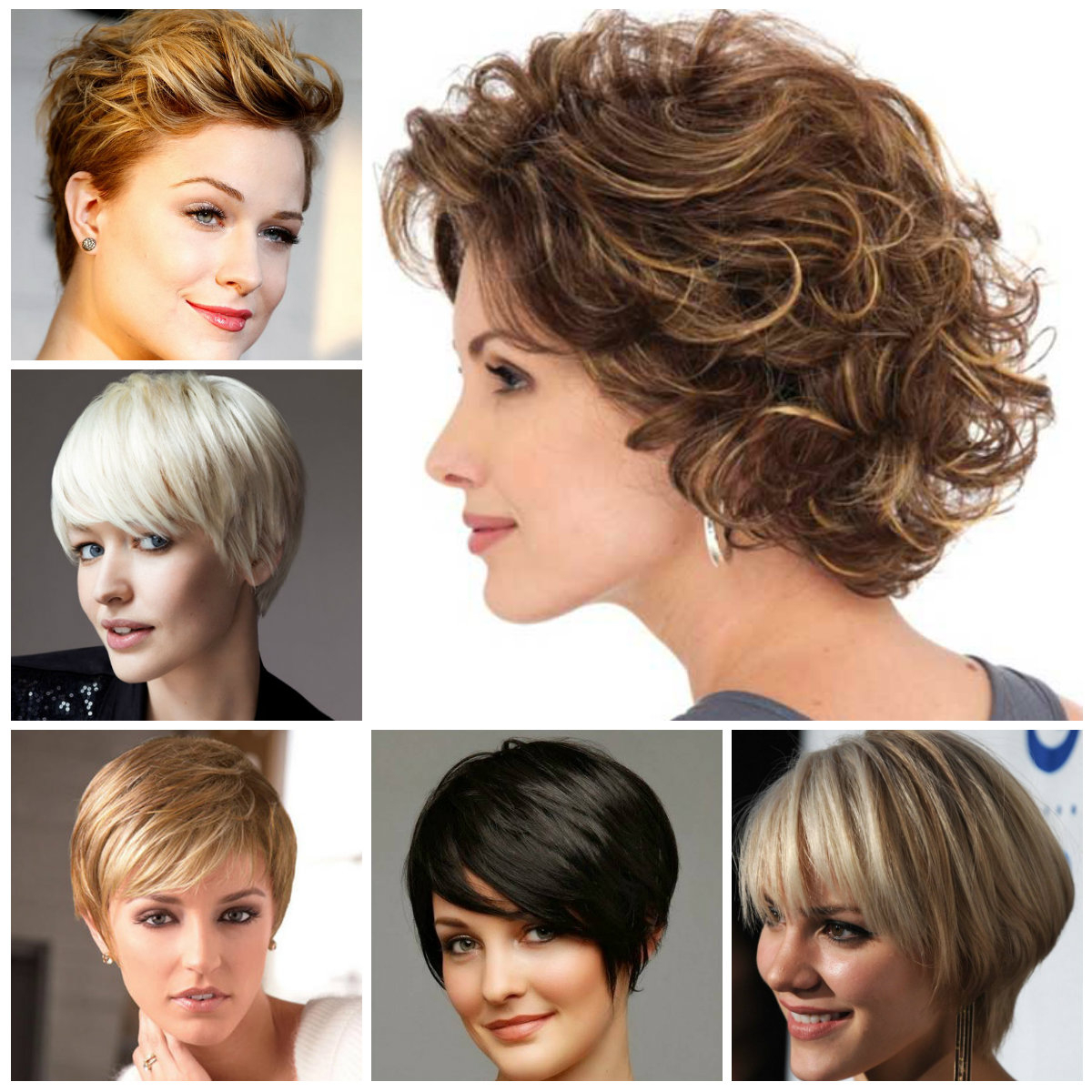 Short Layered Hairstyle Ideas For 2019 | Hairstyles For Women 2019 With Regard To Curly Golden Brown Pixie Hairstyles (View 11 of 20)