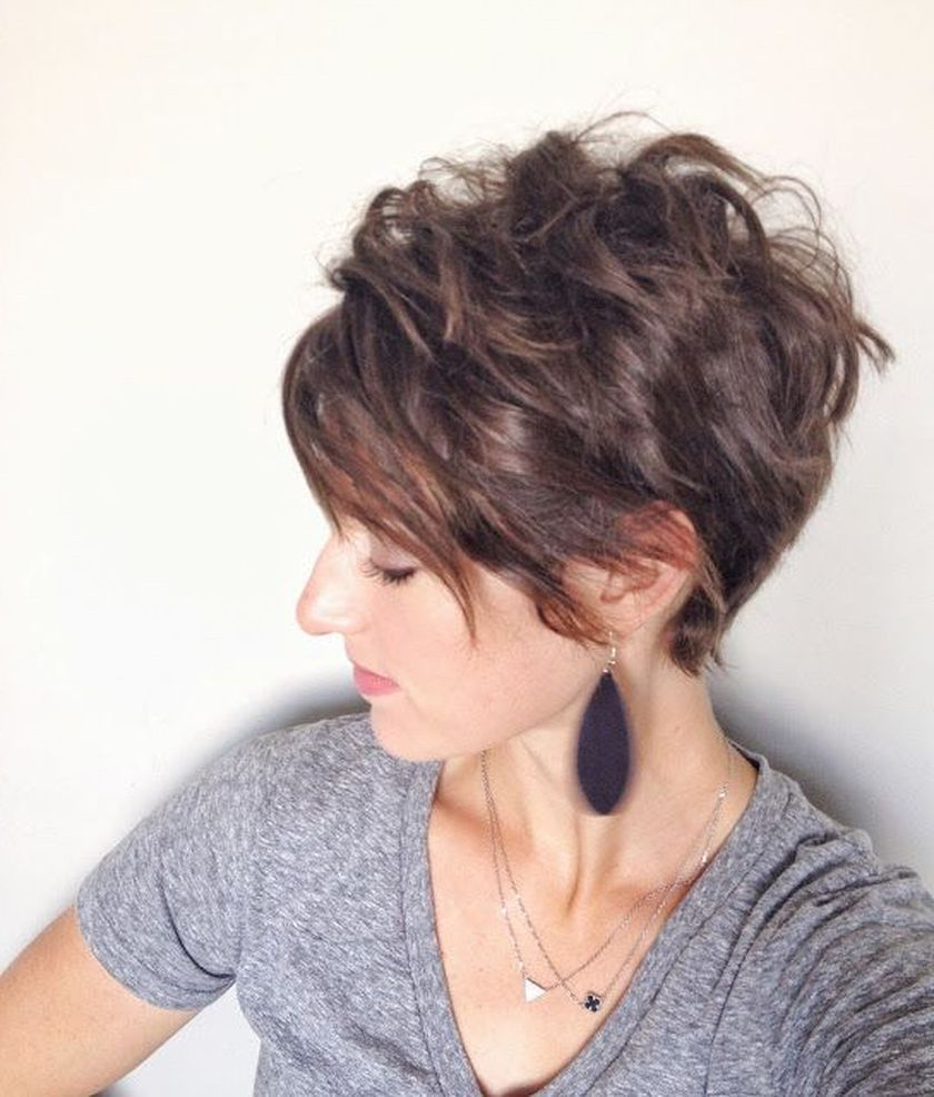 Short Messy Pixie Haircut Hairstyle Ideas 10 | Cute Grey Hair Styles With Messy Asymmetrical Pixie Bob Haircuts (Gallery 3 of 20)