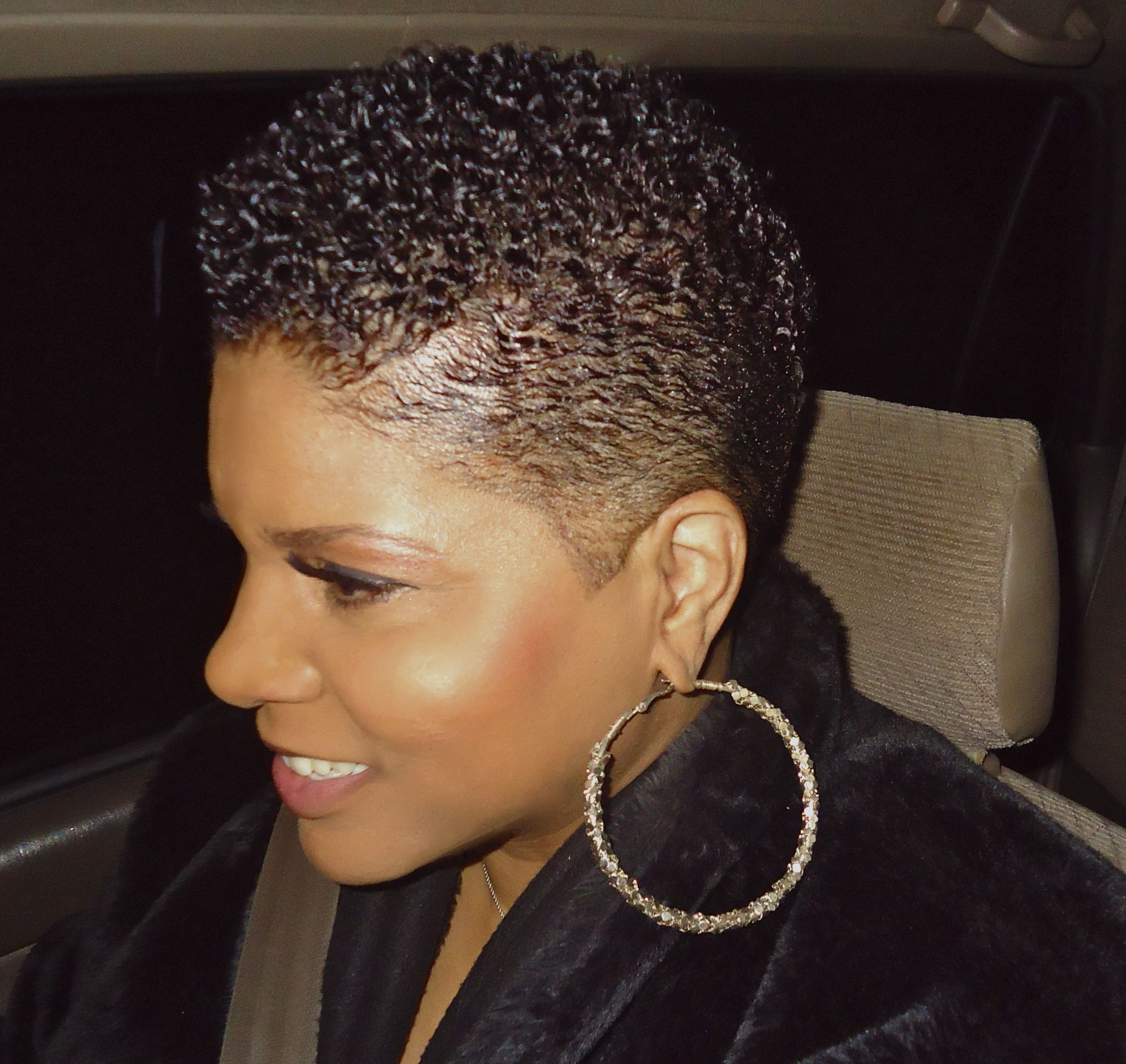 Short Natural Black Hair. Slicked Down (View 2 of 20)