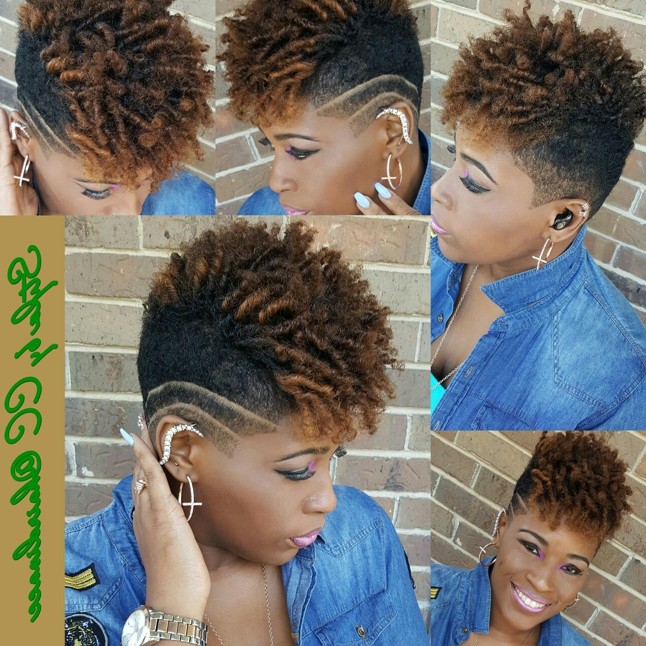 Short Natural Undercut Black Women Short Cuts | Tapered Natural Hair Regarding Soft Curly Tapered Pixie Hairstyles (View 4 of 20)