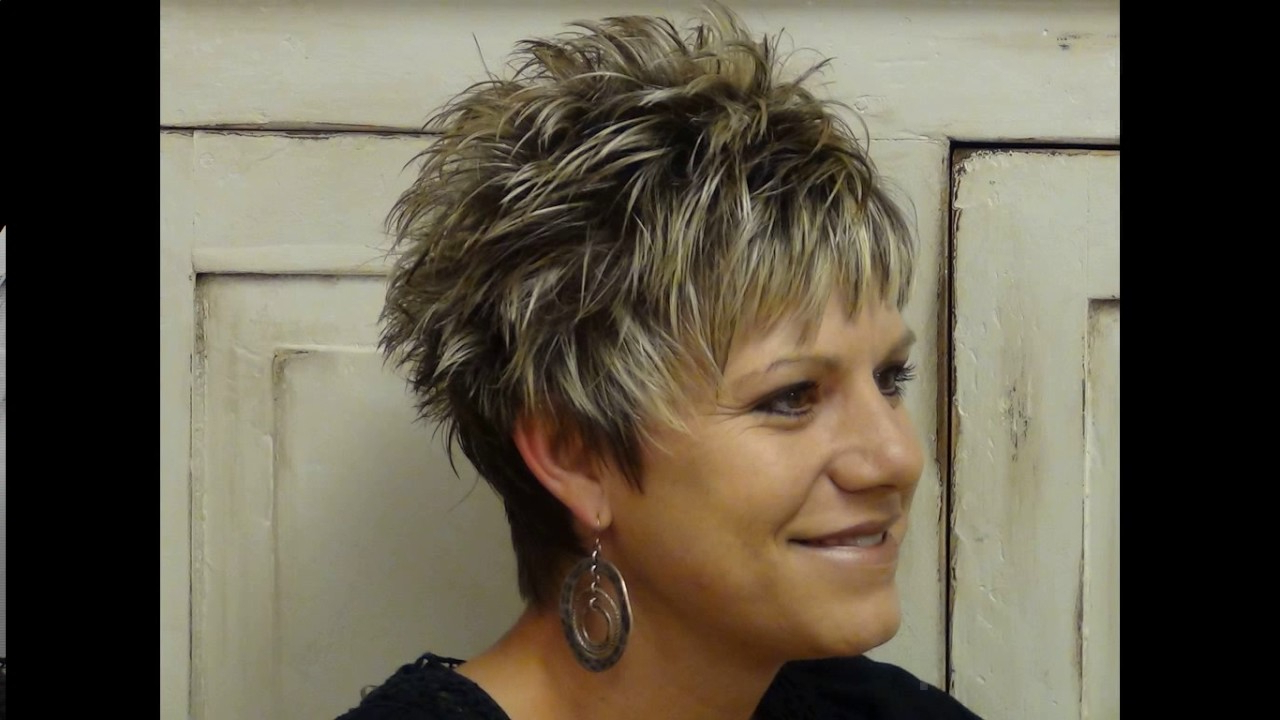 Short Spiky Haircuts For Older Women – Youtube Regarding Short Spiked Haircuts (View 17 of 20)