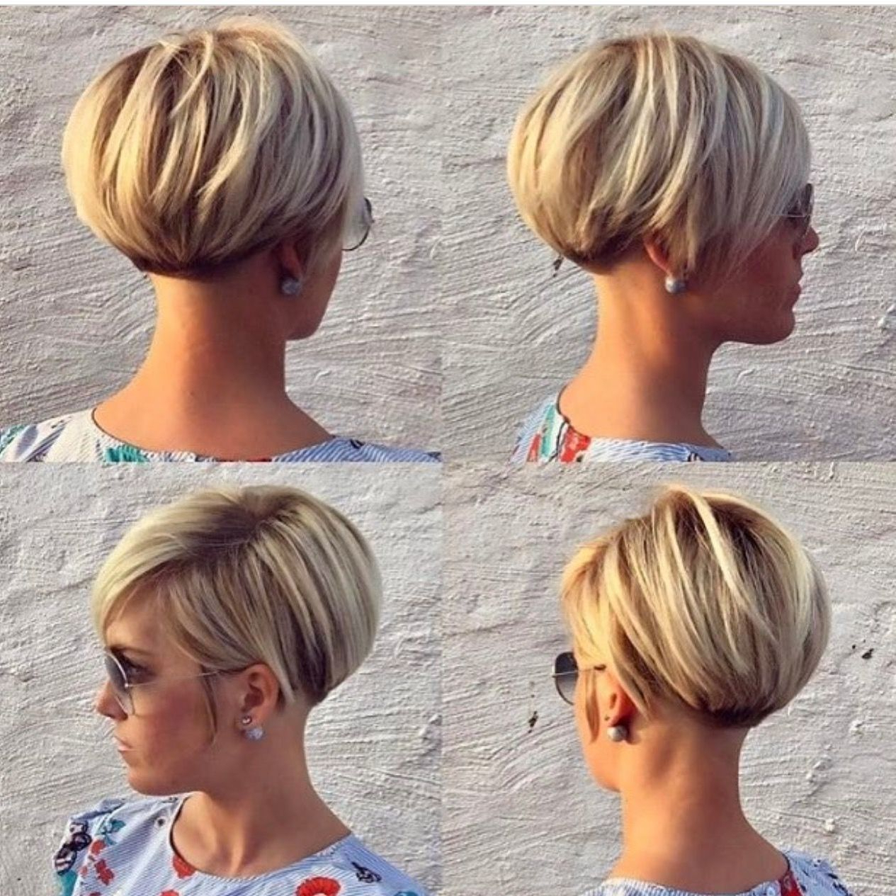 Photo Gallery Of Two Tone Stacked Pixie Bob Haircuts Viewing 2 Of