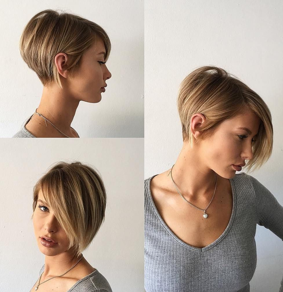Featured Photo of Short Tapered Bob Hairstyles With Long Bangs