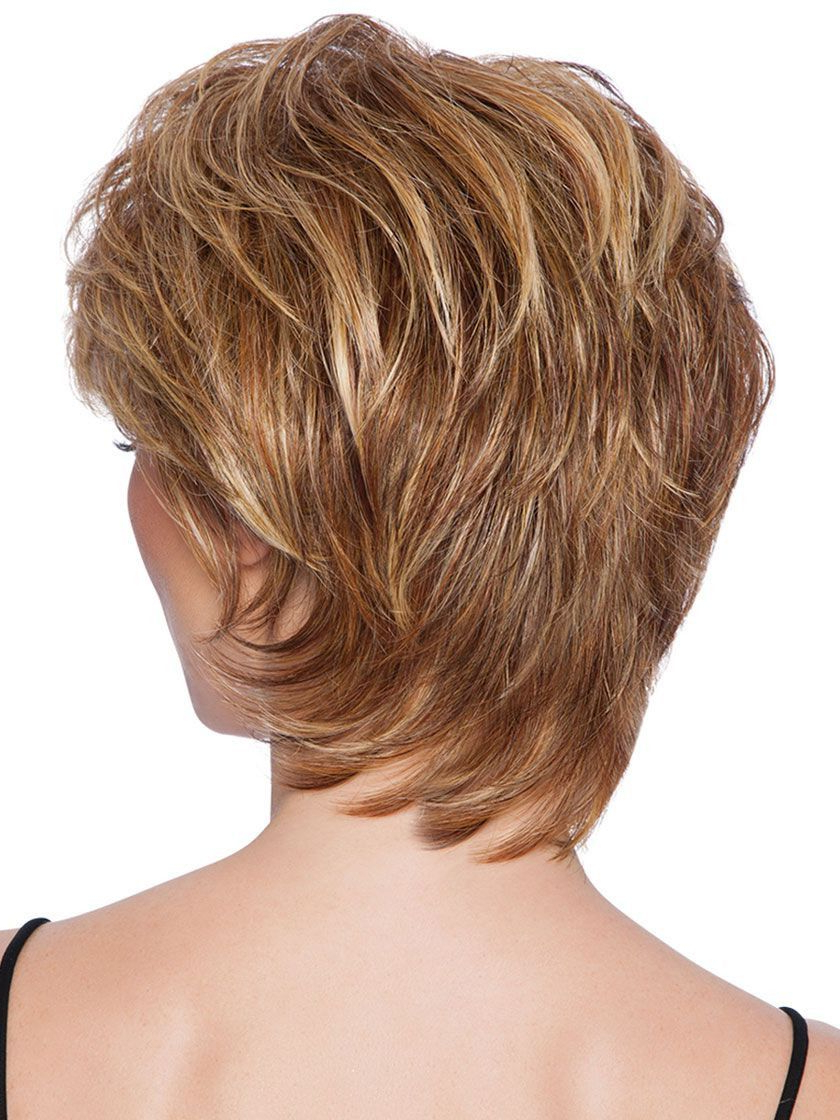 Short Tapered Crop Heat Friendly Synthetic Wig – Wigs Pertaining To Tapered Brown Pixie Hairstyles With Ginger Curls (View 19 of 20)