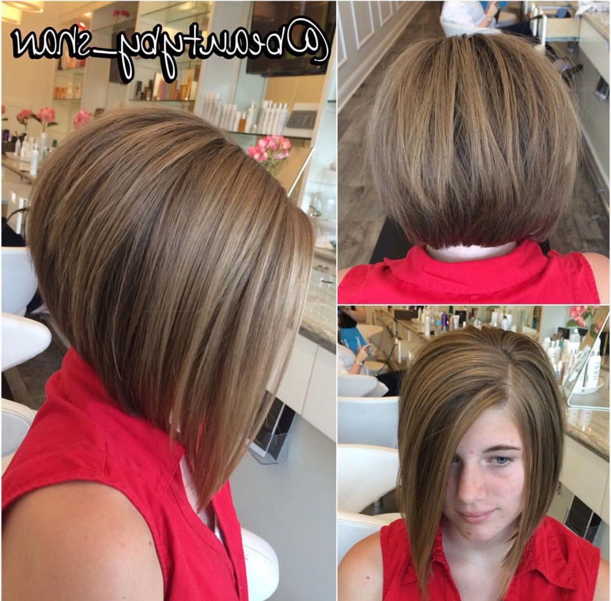 Short To Long Haircut. Inverted Bob. Bob (View 13 of 20)