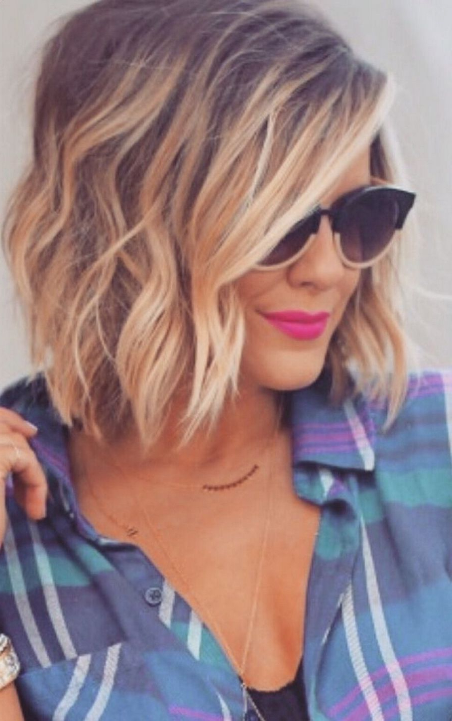 Short Wavy Bob, Blonde Balyage | Hair | Pinterest | Blonde Balyage Intended For Short Wavy Blonde Balayage Bob Hairstyles (View 18 of 20)