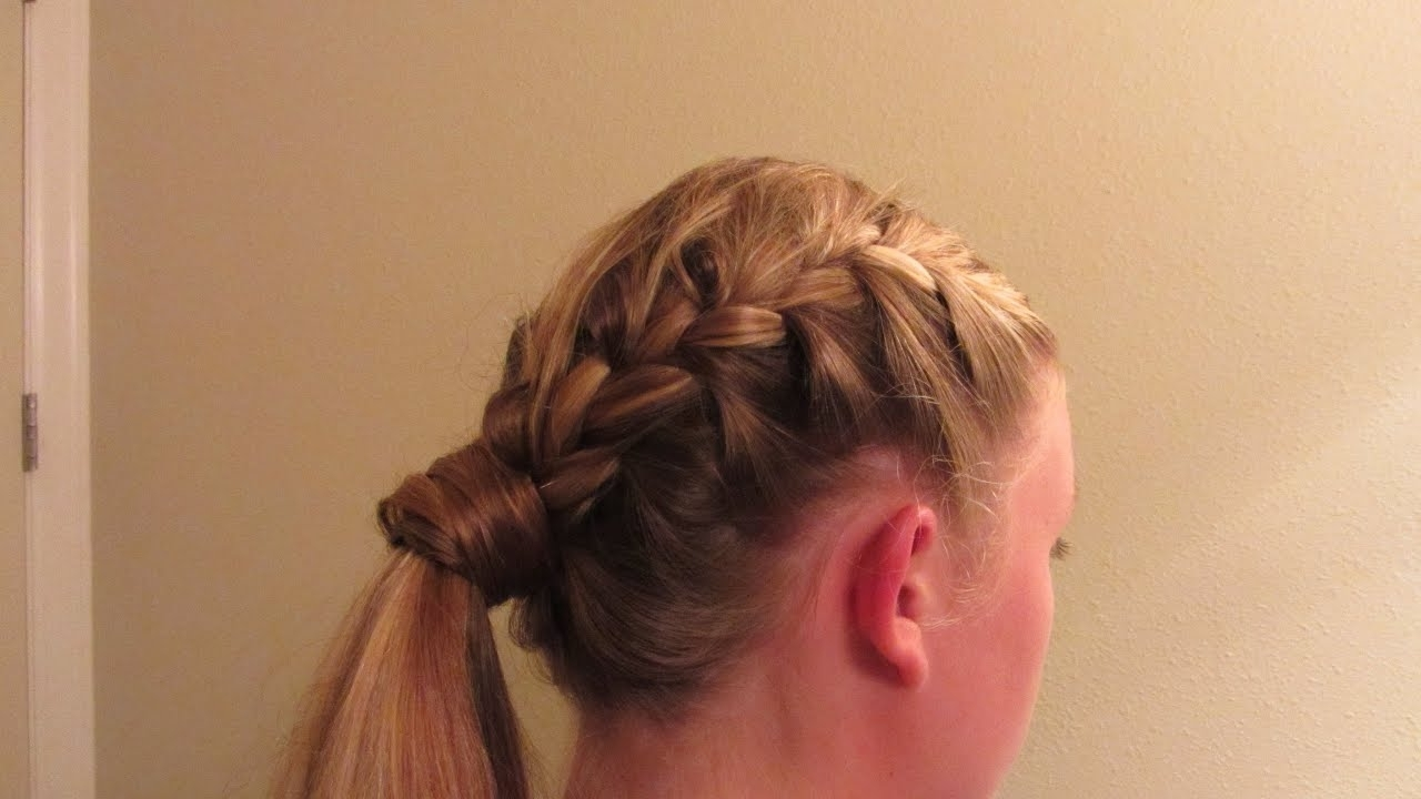 Side French Braid With Wrapped Pony Tail Super Cute Long Blond Hair Pertaining To Trendy Long Ponytails With Side Braid (View 18 of 20)