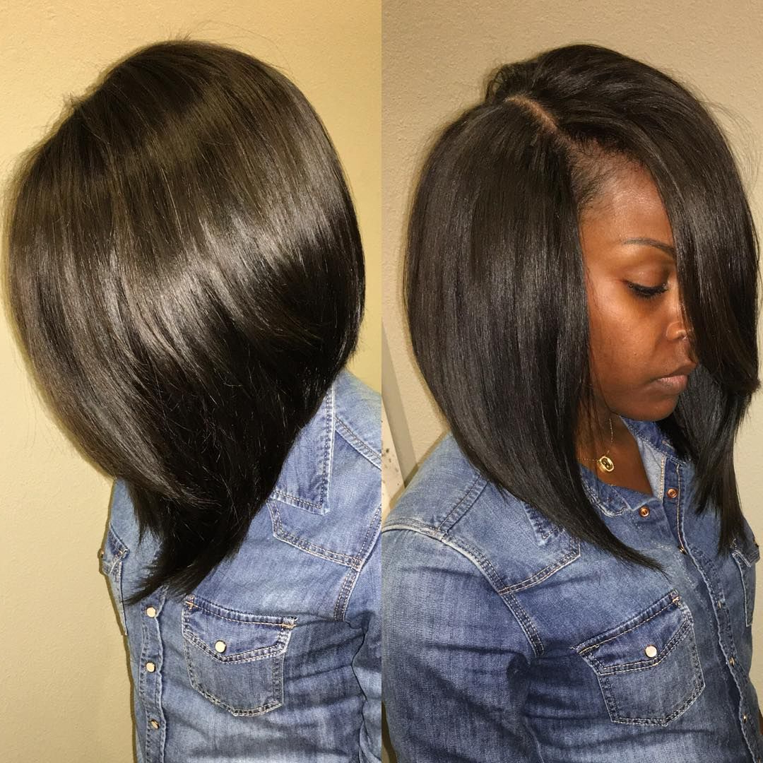 Side Part Sew In Bob – Gallery Hairstyle Ideas Regarding Side Parted Asymmetrical Gray Bob Hairstyles (View 19 of 20)