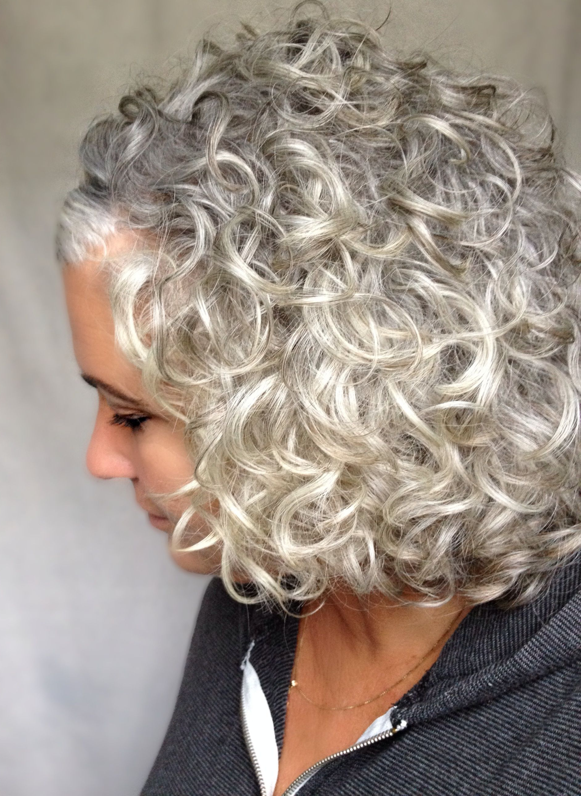 Silver/gray Curls (View 17 of 20)