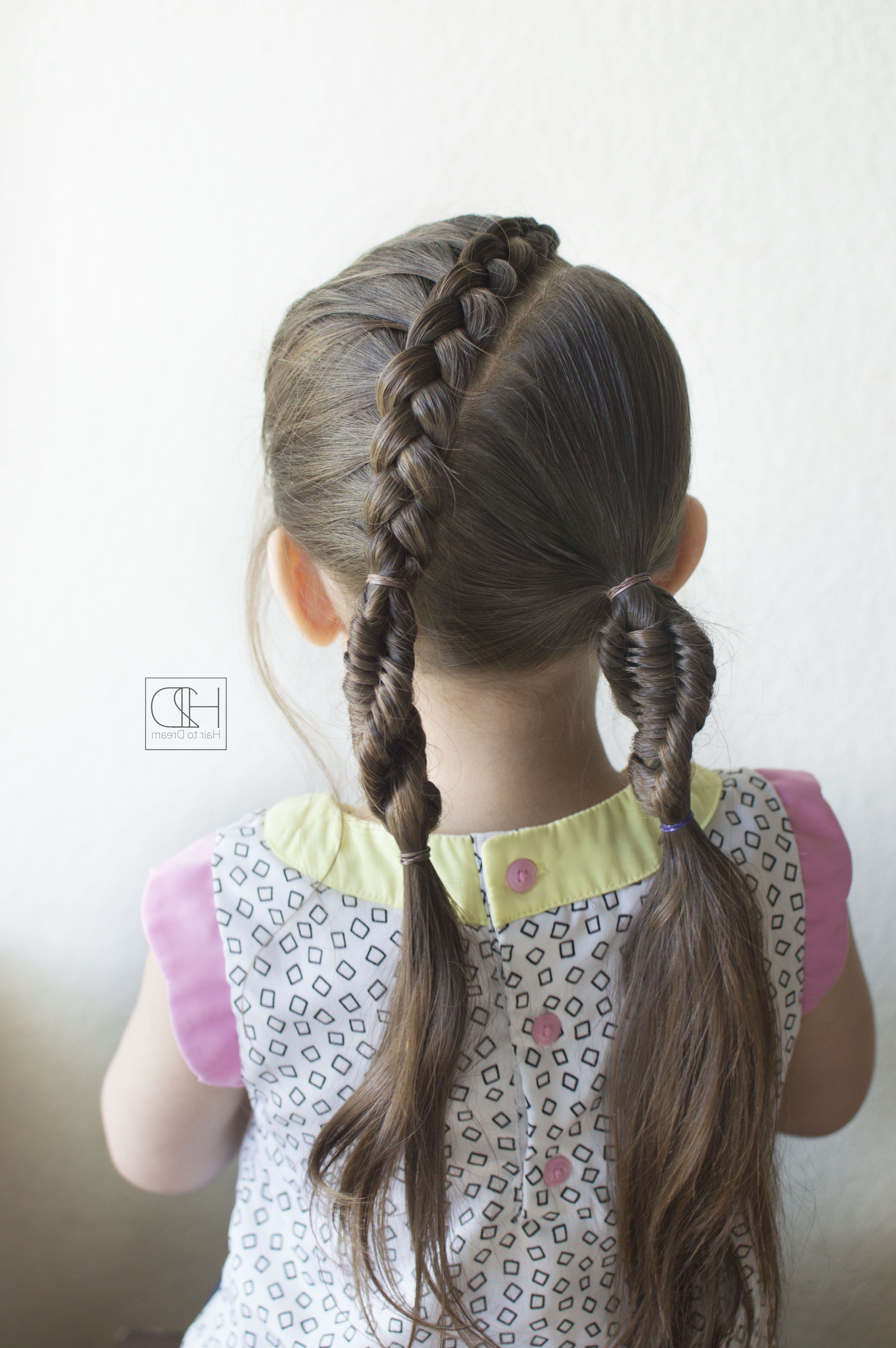 Simple And Easy Dna Braid And Dutch Lace Braid Combo! #dnabraid With Best And Newest Pony And Dutch Braid Combo Hairstyles (View 16 of 20)