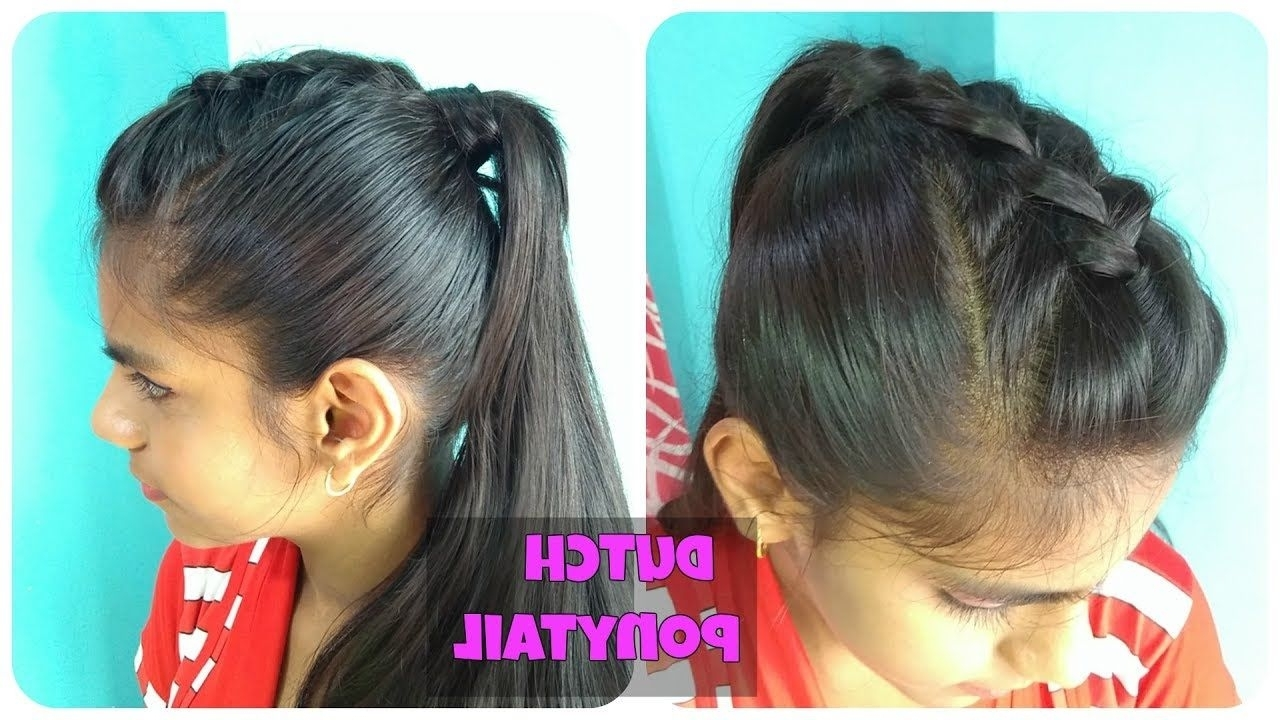 Simple Ponytail Hairstyles With Dutch Braid Faux Hawk (View 17 of 20)