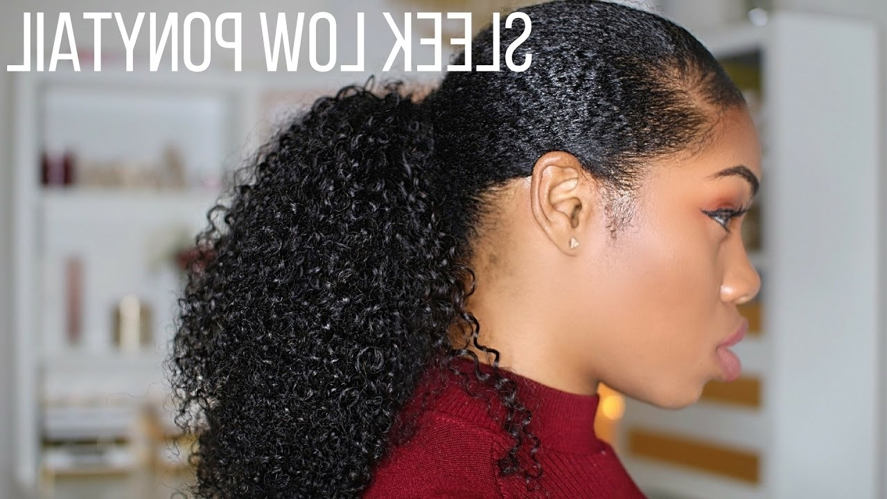Sleek Low Curly Ponytail (View 18 of 20)