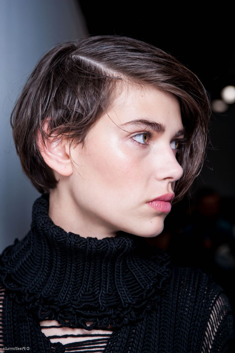 Sleek, Short Hair Tutorial: Try A Deep Side Part Regarding Short Haircuts With Side Part (View 2 of 20)