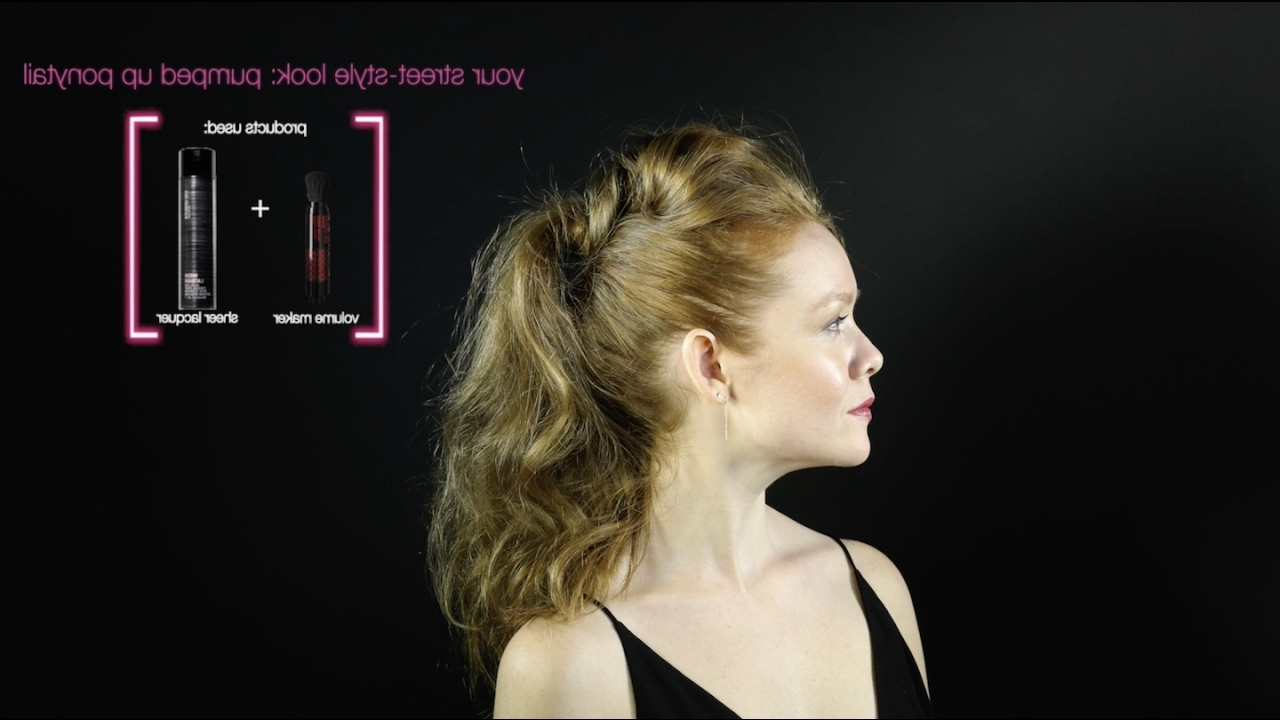 Street Style Hair Tutorial: Pumped Up Ponytail – Youtube Pertaining To Famous Artistically Undone Braid Ponytail Hairstyles (View 18 of 20)