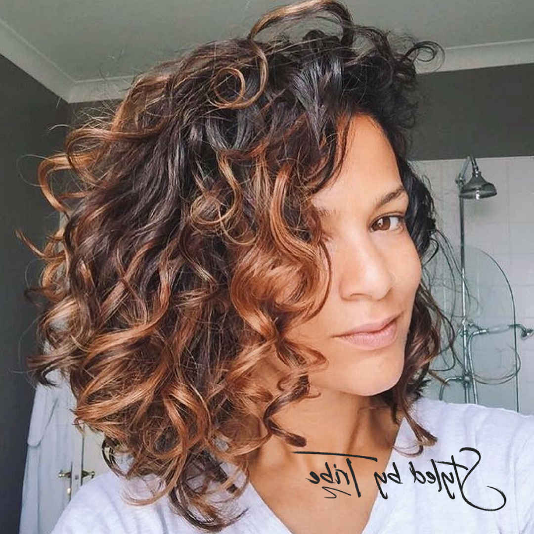 Style Inspiration In 2018 | Hair | Pinterest | Curly Hair Styles Within Brown Curly Hairstyles With Highlights (View 19 of 20)