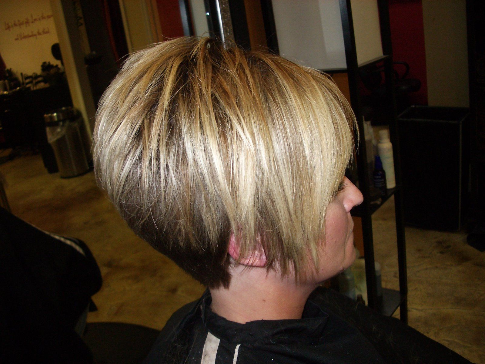 Style Them Fabulous!: High Layered A Line With Tapered Back | Hair Throughout Short Bob Hairstyles With Tapered Back (View 13 of 20)