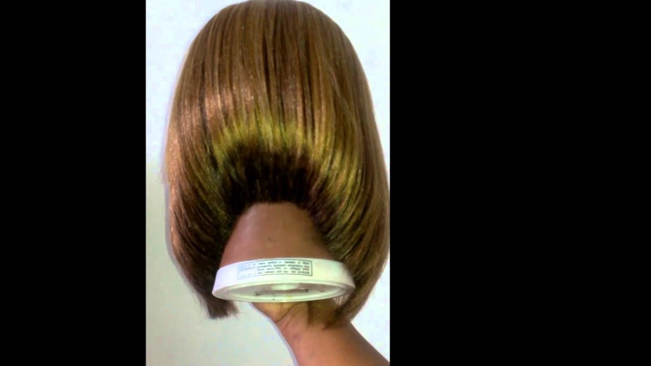 Synthetic (Long) Wig Cut Into A Line Bob – Youtube With A Line Amber Bob Haircuts (View 18 of 20)