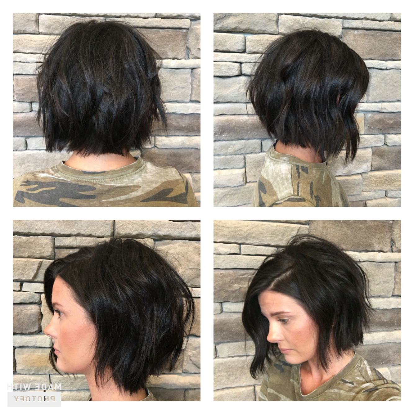 Texturized Modern Bob #studio603 | Short Styles In 2018 | Pinterest Throughout Modern Chocolate Bob Haircuts (View 4 of 20)