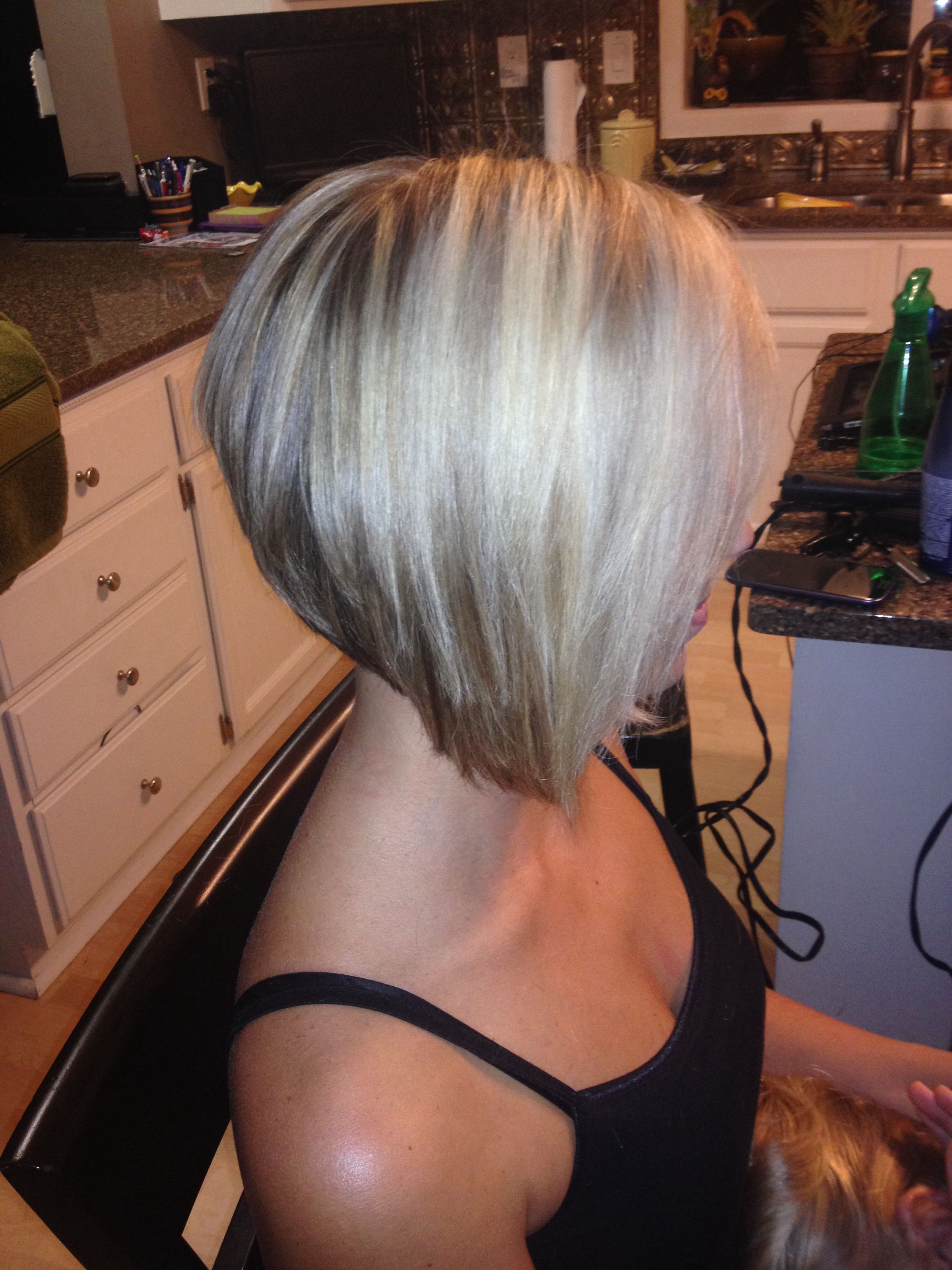 The Angled Bob Hairstyle | Haircuts | Pinterest | Hair Styles, Hair For Angled Burgundy Bob Hairstyles With Voluminous Layers (View 8 of 20)