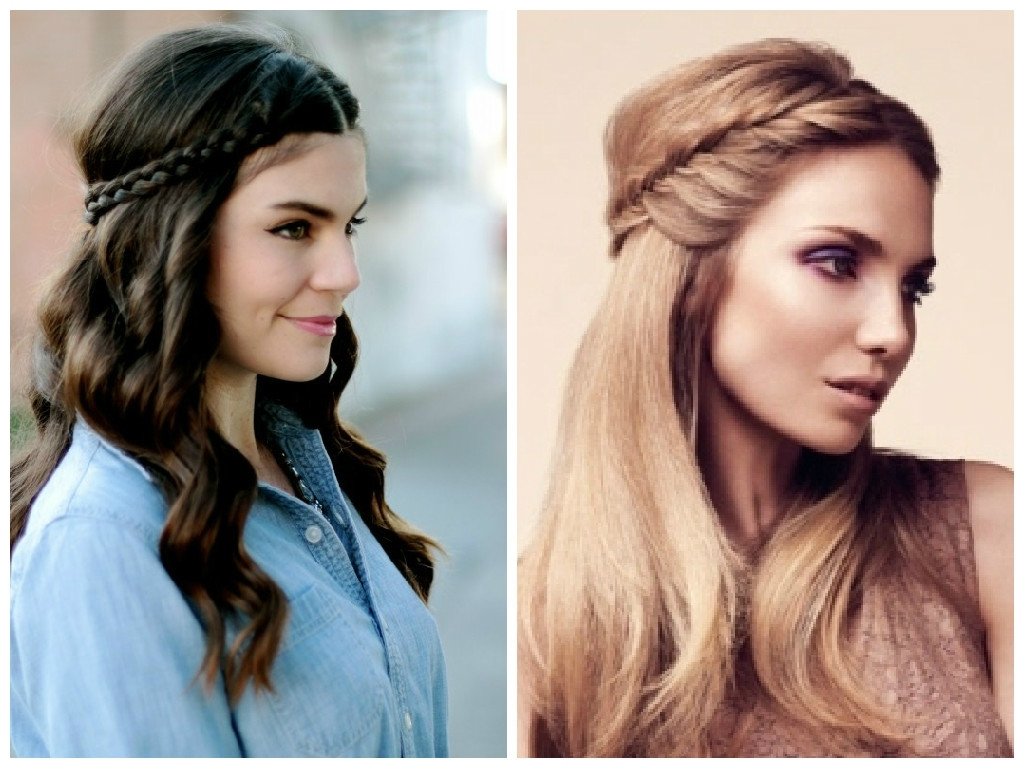 The Best Crown Braid Hairstyle Ideas – Hair World Magazine Inside Best And Newest Wavy Side Ponytails With A Crown Braid (View 15 of 20)