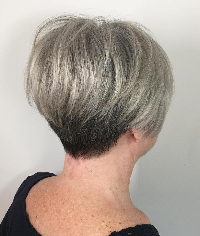 The Best Hairstyles And Haircuts For Women Over 70 For High Shine Sleek Silver Pixie Bob Haircuts (View 7 of 20)