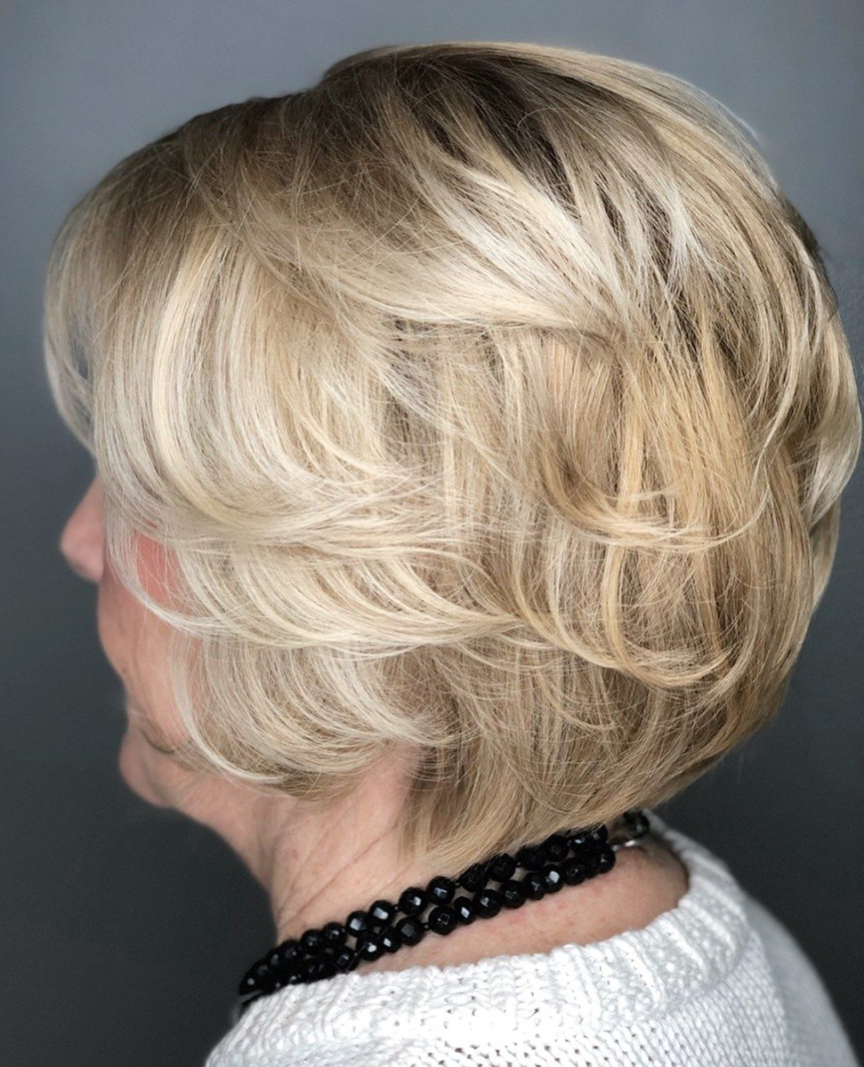 The Best Hairstyles And Haircuts For Women Over 70 | Hair Regarding Pixie Bob Hairstyles With Golden Blonde Feathers (View 17 of 20)
