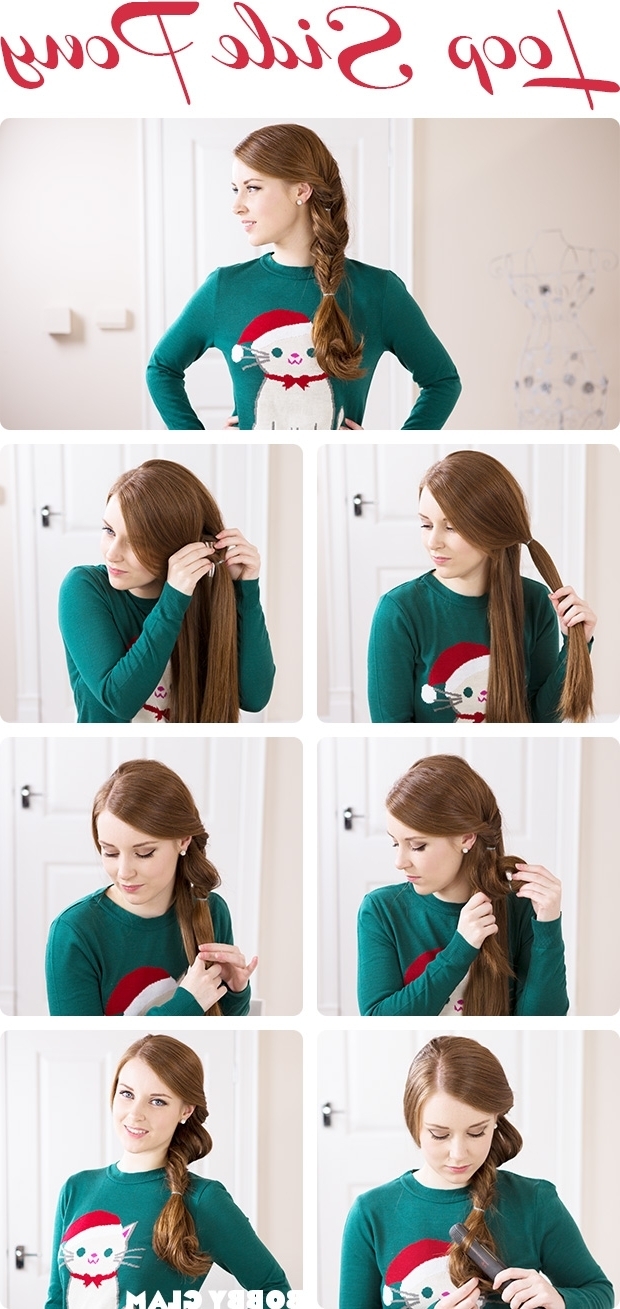The Best Step By Step Ponytail Tutorials Inside Famous Simple Messy Side Ponytail Hairstyles (View 17 of 20)