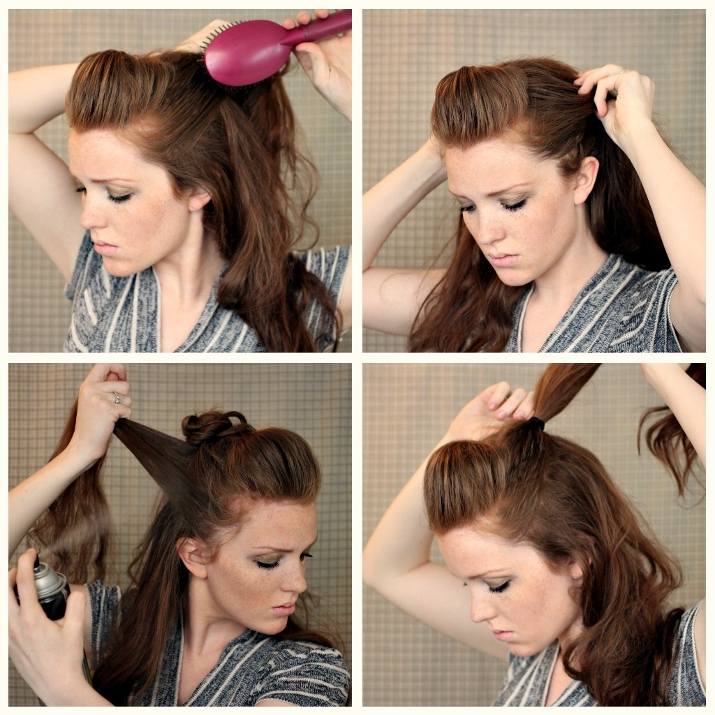 The Freckled Fox: Hair Tutorial // Posh Faux Hawk With Latest Faux Hawk Ponytail Hairstyles (View 5 of 20)