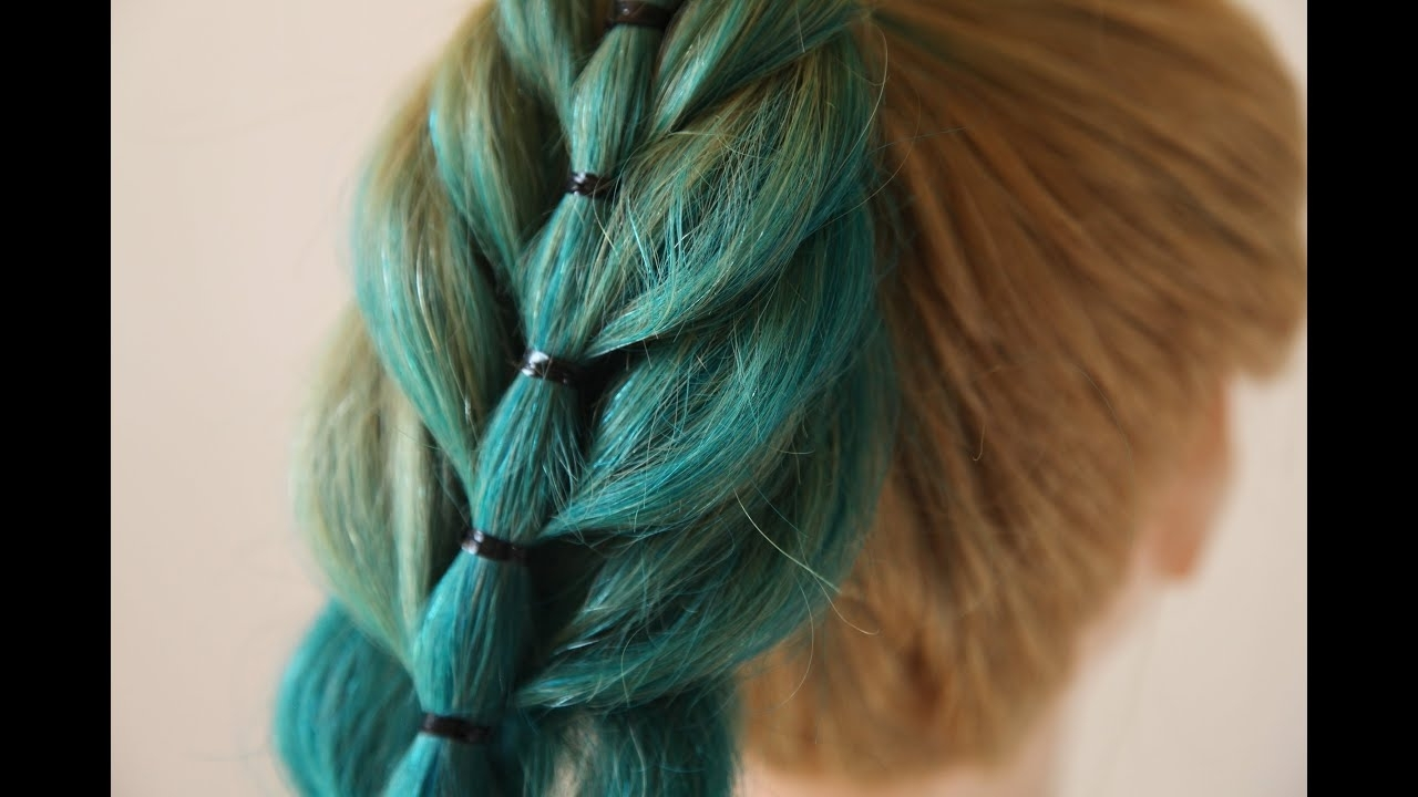 The French Bubble Ponytail – Youtube With Well Known French Braid Ponytail Hairstyles With Bubbles (View 18 of 20)