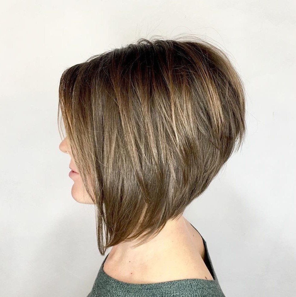 The Full Stack: 50 Hottest Stacked Haircuts In 2018 | Bobs In Short Red Haircuts With Wispy Layers (View 19 of 20)