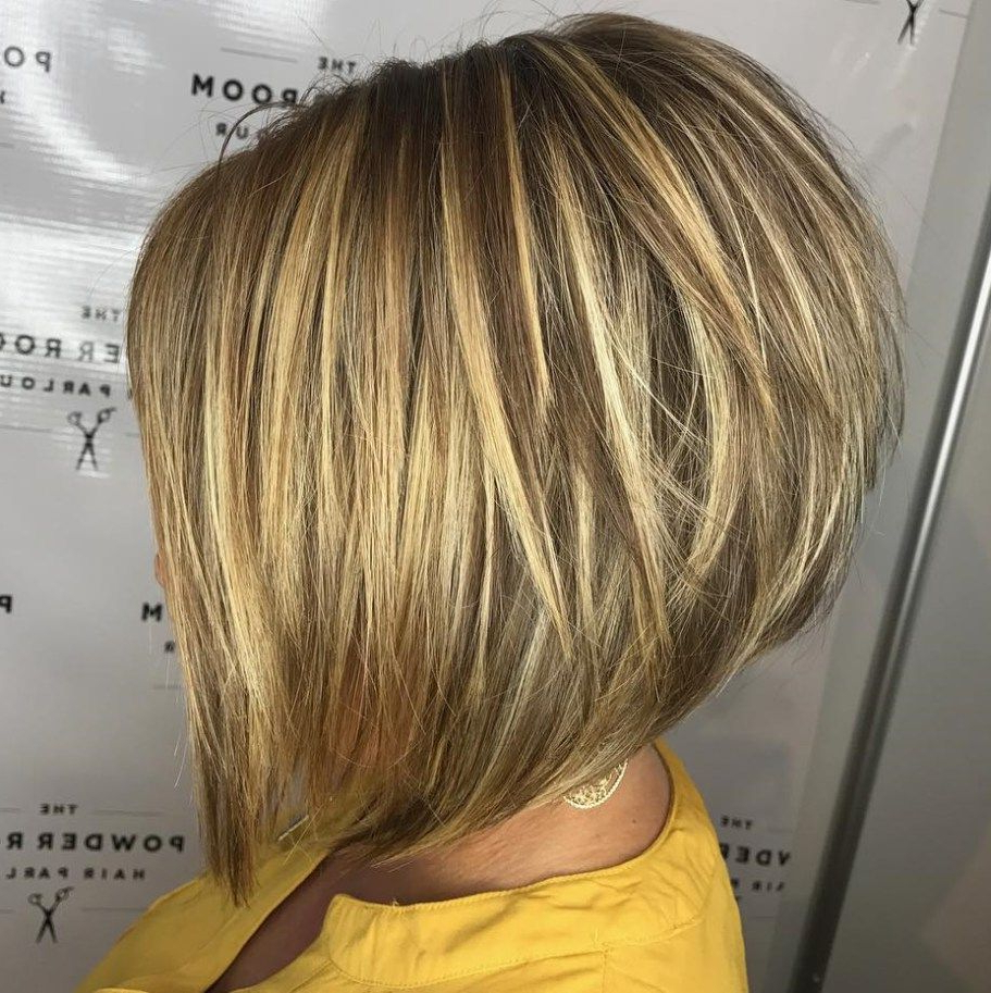 The Full Stack: 50 Hottest Stacked Haircuts | Stacked Haircuts With Regard To Stacked Blonde Balayage Bob Hairstyles (View 2 of 20)