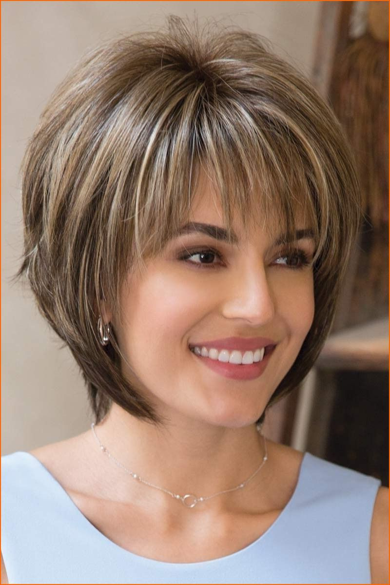 Thin Hair Short Layered Hairstyles Thick Hair Look For Women 2018 Regarding Layered Bob Hairstyles For Thick Hair (View 20 of 20)