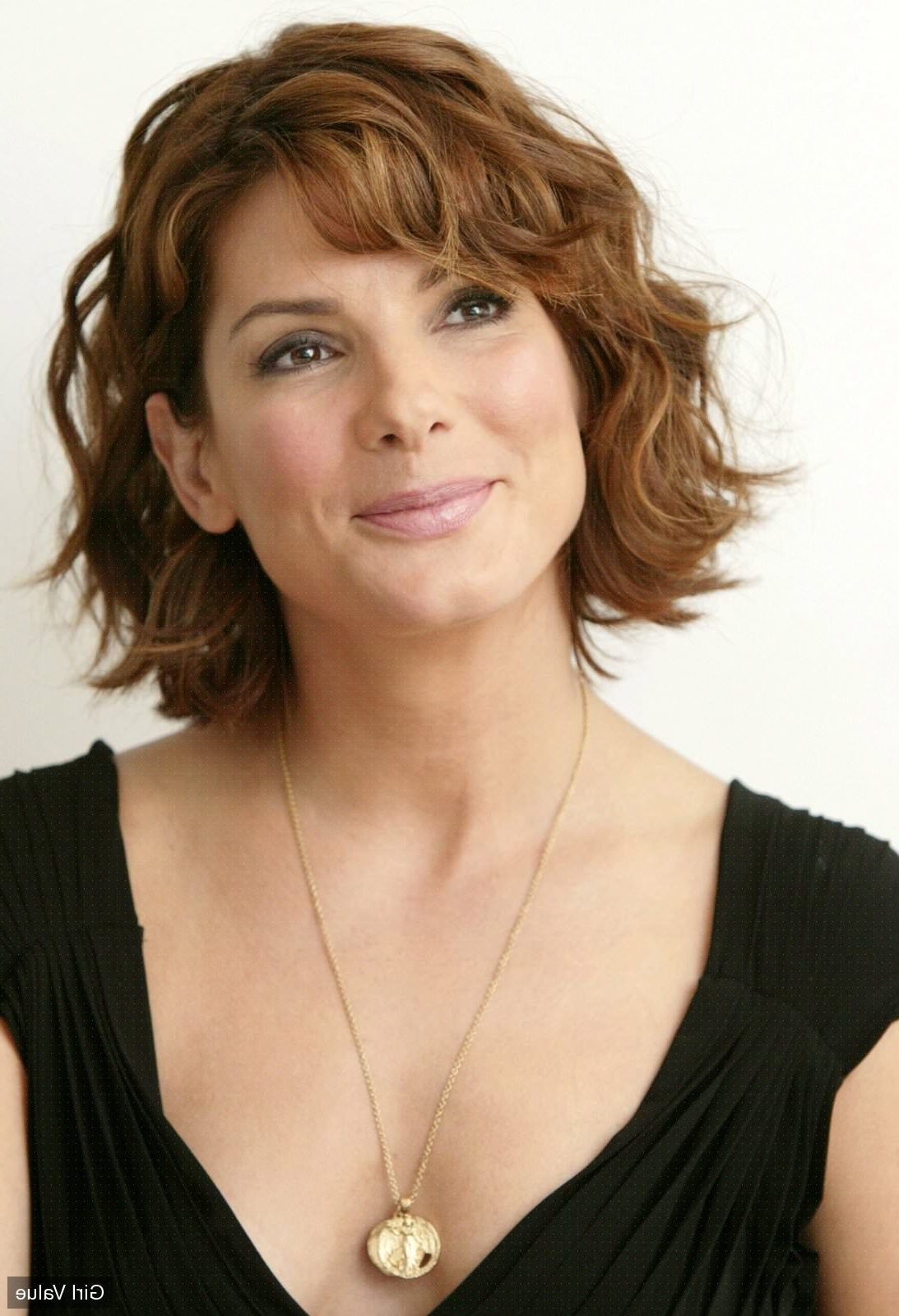 """Token"""":""""2427""""} – Sandra Bullock Light Brown Curly Hair In Black For Curly Golden Brown Pixie Hairstyles (View 16 of 20)"""