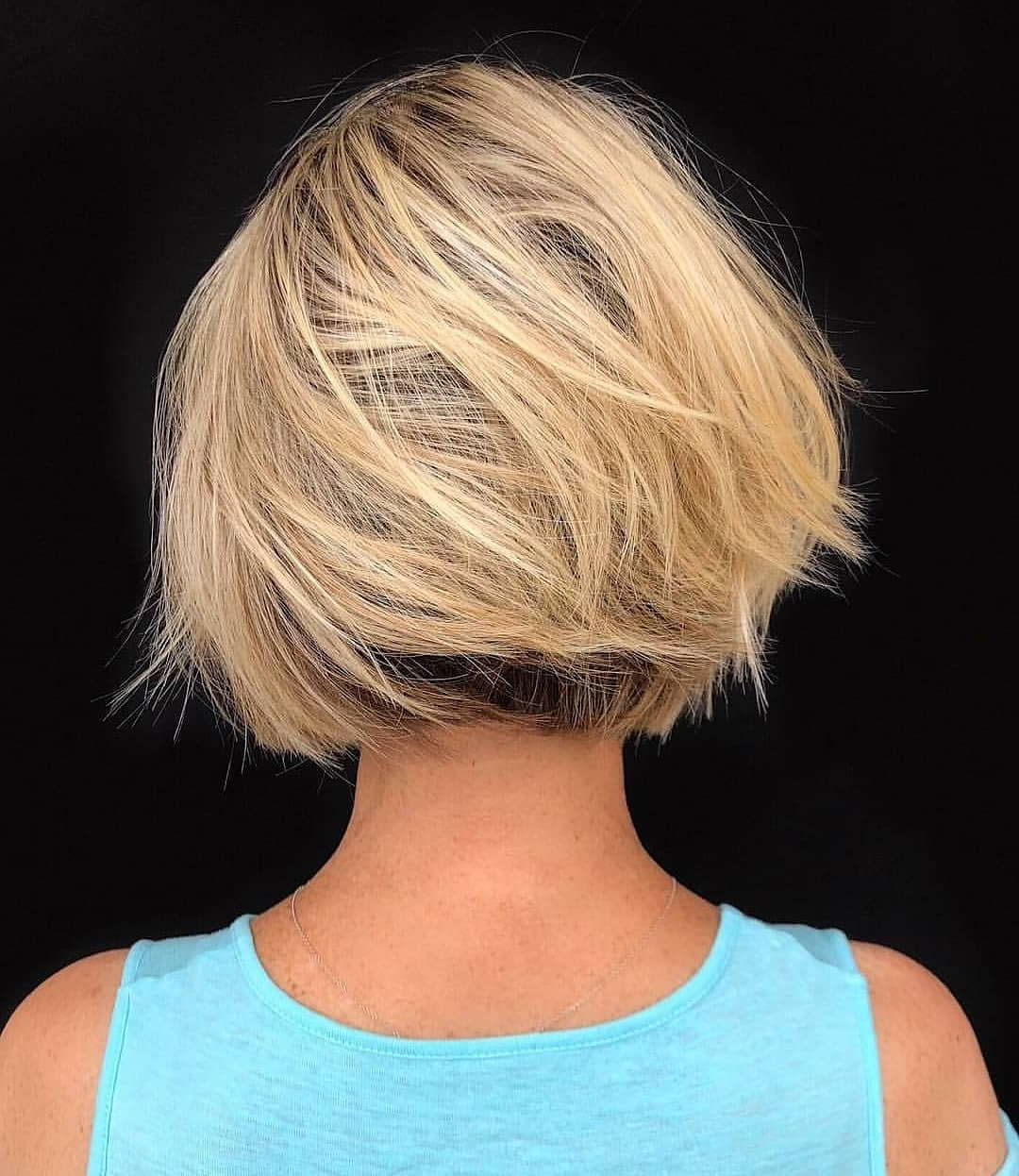 Top 10 Low Maintenance Short Bob Cuts For Thick Hair, Short Inside Classic Layered Bob Hairstyles For Thick Hair (View 20 of 20)