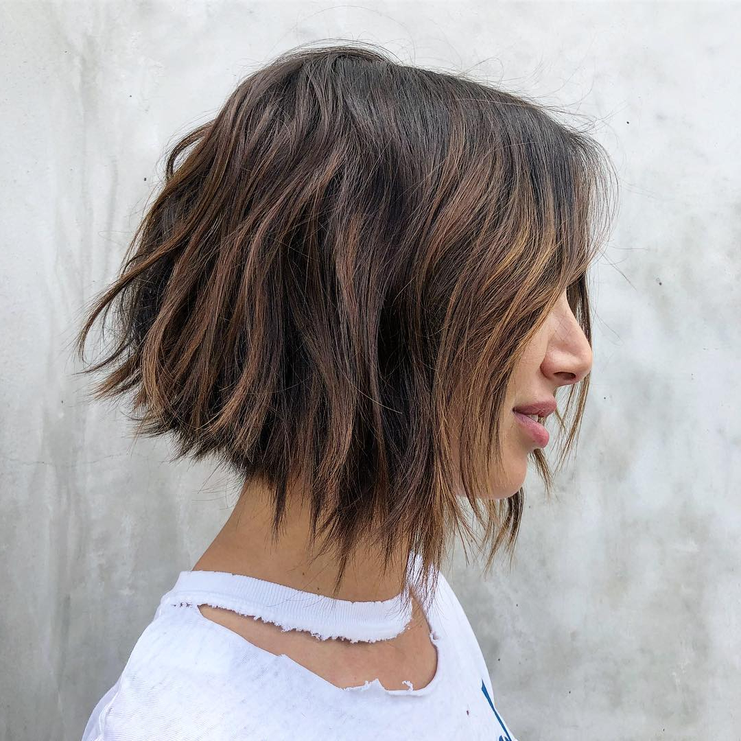 Top 10 Low Maintenance Short Bob Cuts For Thick Hair, Short Pertaining To Tousled Beach Bob Hairstyles (View 12 of 20)